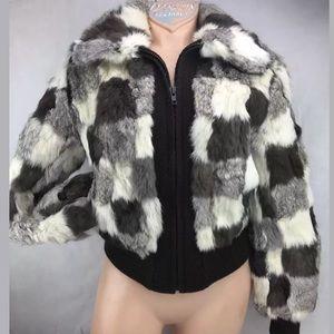 Rabbit Fur Coat Jacket